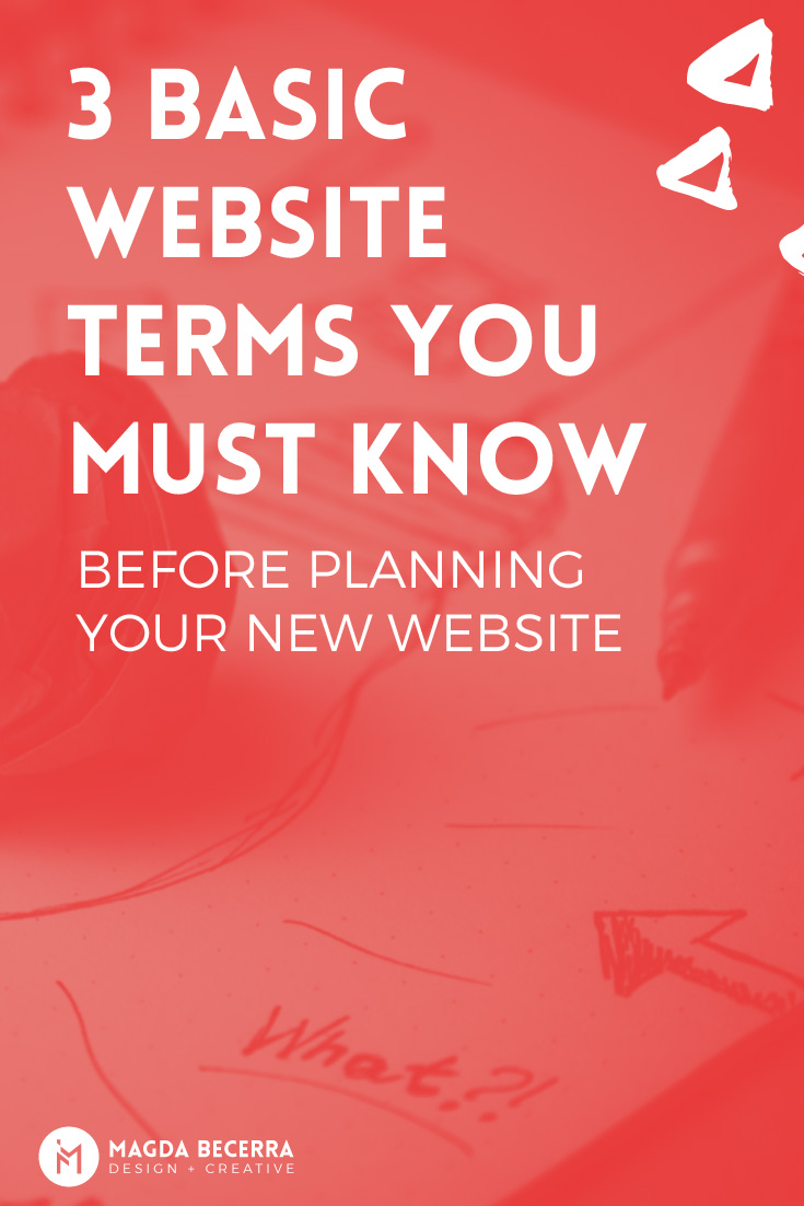 Three basic terms to know when starting a website