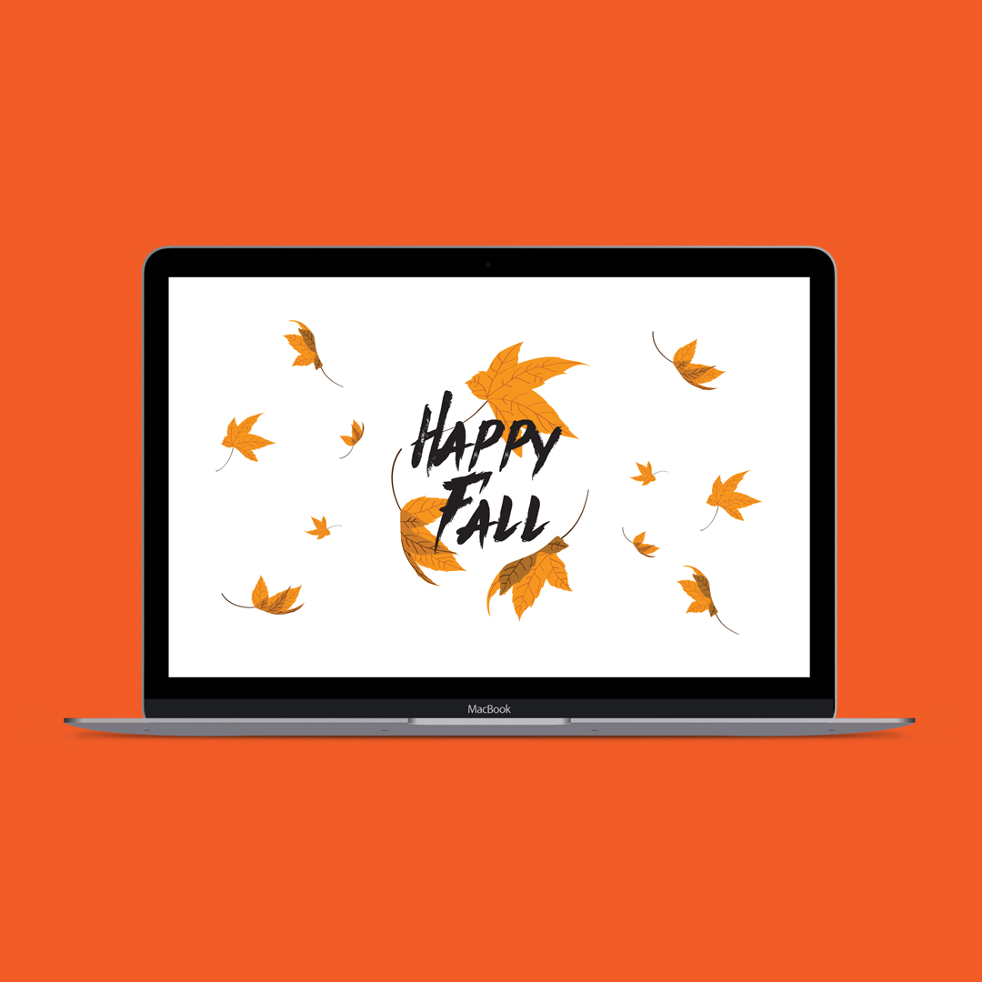 "Click to download this free ""happy fall"" desktop wallpaper"